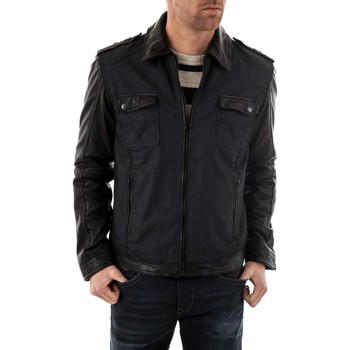 Vêtements Homme Blousons Trapper VITO BLUE/BLACK Bleu