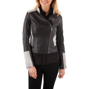 Vêtements Femme Vestes en cuir / synthétiques Serge Pariente ELLY NOIR ZZ Noir/Blanc