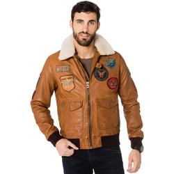 Vêtements Homme Vestes en cuir / synthétiques Daytona 73 MYTHIC + FUR SHEEP PETROL COGNAC Cognac