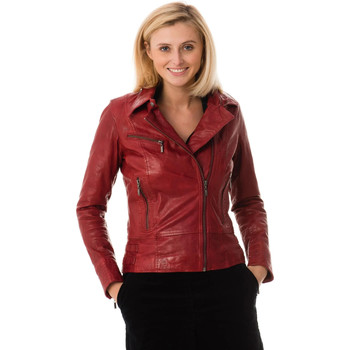 Vêtements Femme Vestes en cuir / synthétiques Rose Garden JULIETTE SHEEP AOSTA RED CHILI PEPPER Rouge