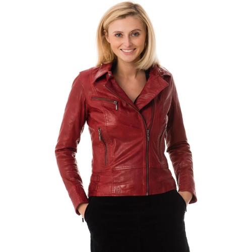 Vêtements Femme Vestes en cuir / synthétiques Rose Garden JULIETTE SHEEP AOSTA RED CHILI PEPPER Rouge