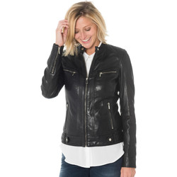 Vêtements Femme Vestes en cuir / synthétiques Rose Garden SILENE SHEEP AOSTA BLACK Noir