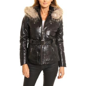 Vêtements Femme Vestes en cuir / synthétiques Rose Garden THALIA SHEEP AOSTA BLACK Noir