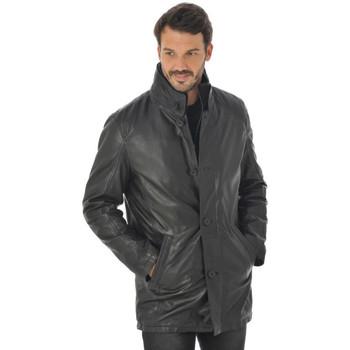 Vêtements Homme Vestes en cuir / synthétiques Daytona 73 BRADFORD LAMB HARMONY BLACK Noir