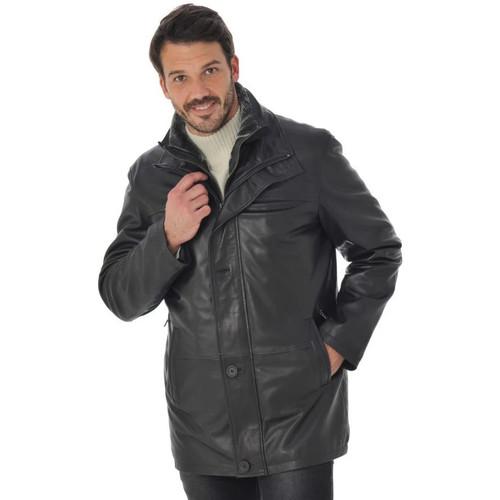 Vêtements Homme Vestes en cuir / synthétiques Daytona TYLER LAMB HARMONY BLACK Noir