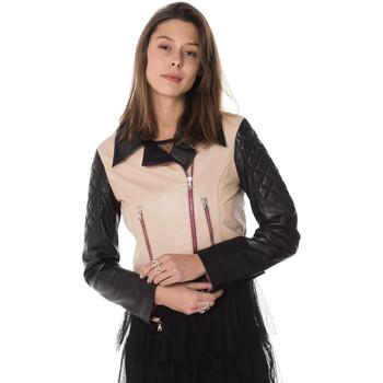 Vêtements Femme Vestes en cuir / synthétiques Jn Llovet CARACAS TAUPE/BLACK Taupe