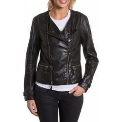 Vêtements Femme Vestes en cuir / synthétiques Gipsy MIE BLACK Noir