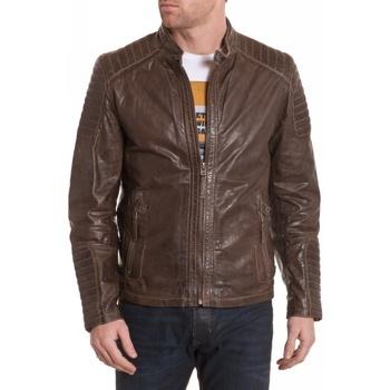 Vêtements Homme Vestes en cuir / synthétiques Gipsy CHAN SF LGV DARK OLIVE ZZ Vert