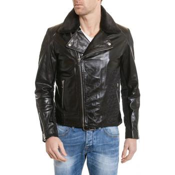 Vêtements Homme Vestes en cuir / synthétiques Serge Pariente PERF MAN QUILT BLACK/VISCOS Noir