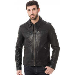 Vêtements Homme Vestes en cuir / synthétiques Daytona 73 MAJOR SHEEP TIGER BLACK Noir