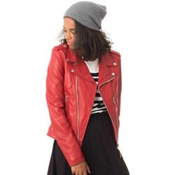 Vêtements Femme Vestes en cuir / synthétiques Schott LCW1601D RED Rouge