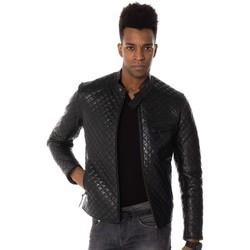 Vêtements Homme Vestes en cuir / synthétiques Serge Pariente TOP MAN QUILT BLACK ZZ Noir