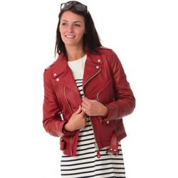 Vêtements Femme Vestes en cuir / synthétiques Schott LCW8600 RED Rouge