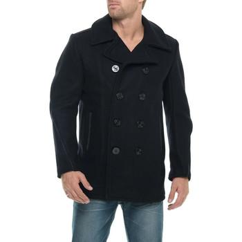 Vêtements Homme Manteaux Schott CABAN 740C NAVY Bleu