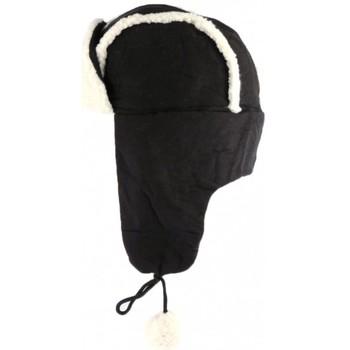 Accessoires textile Homme Bonnets Léon Montane Chapka Noire imitation mouton Val Noir