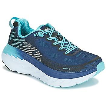 Chaussures Femme Running / trail Hoka one one BONDI 5 Bleu / Noir