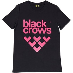 Vêtements Homme T-shirts manches courtes Black Crows T-shirt  Full Logo Black / Pink Noir