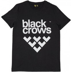 Vêtements Homme T-shirts manches courtes Black Crows T-shirt  Full Logo Black / White Noir