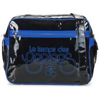 Sacs Femme Sacs porté épaule Le Temps des Cerises Sac Besace  Rumba 1 Noir/Bleu Royal