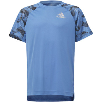 Vêtements Garçon T-shirts manches courtes adidas Performance T-shirt Training Run blue