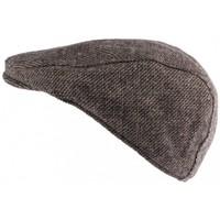 Accessoires textile Homme Casquettes Nyls Création Casquette plate marron en laine Burglar Marron