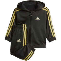Vêtements Enfant Ensembles de survêtement adidas Performance Ensemble sportswear Shiny Hooded Noir / Or