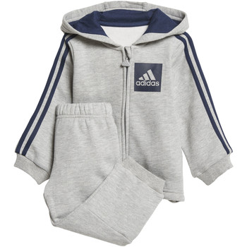 Vêtements Enfant Ensembles de survêtement adidas Performance Ensemble 3-Stripes Hooded Fleece Gris / Bleu Foncé