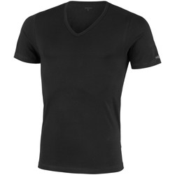 Vêtements Homme T-shirts manches courtes Impetus T-shirt homewear col V coton stretch Essentials noir Noir