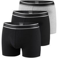 Vêtements Homme Boxers / Caleçons Impetus Lot de 3 boxers tout confort Essentials noir gris Multicolore