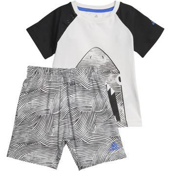 Vêtements Garçon Ensembles enfant adidas Performance Ensemble Summer Fun Blanc / Noir