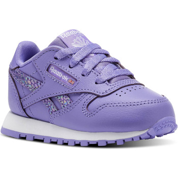 Chaussures Enfant Baskets basses Reebok Classic Classic Leather Spring Violet / Blanc