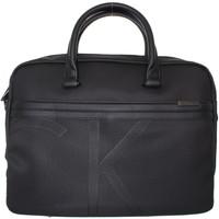 Sacs Homme Porte-Documents / Serviettes Calvin Klein Jeans Serviette  ref_cem42489 noir Noir