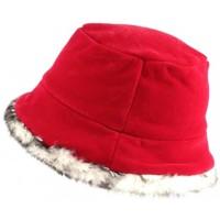 Accessoires textile Femme Chapeaux Nyls Création Chapeau Cloche Rouge avec Fourrure Lola Rouge