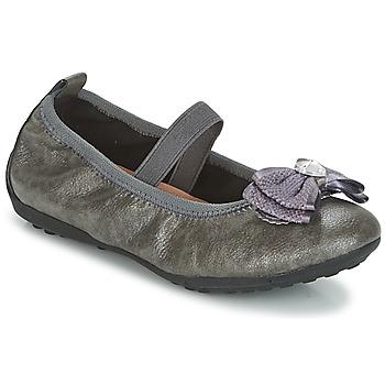 Chaussures Fille Ballerines / babies Geox J PIUMA BALLERINES Gris