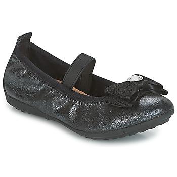 Chaussures Fille Ballerines / babies Geox J PIUMA BALLERINES Noir