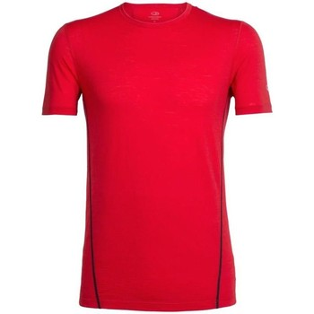 Vêtements Homme T-shirts manches courtes Icebreaker M Aero Ss Crewe Rouge