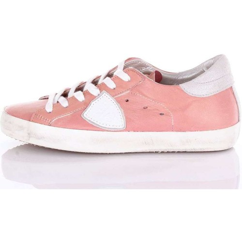 Philippe Model Paris CLLDMW02 Sneakers Femme Rose Rose - Chaussures Baskets basses Femme