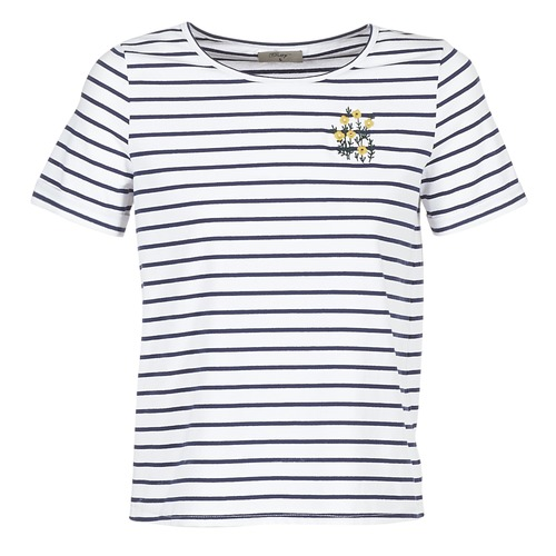 Vêtements Femme T-shirts manches courtes Betty London INNAMOU Blanc / Marine