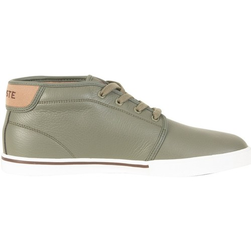Chaussures Homme Baskets montantes Lacoste Homme Ampthill 118 2 CAM Leather Trainers, Vert vert