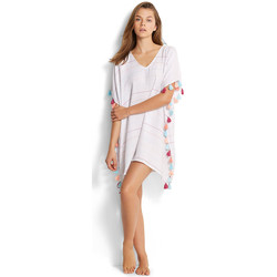 Vêtements Femme Robes courtes Seafolly Tunique  Multi Stripe Kaftan Blanc BLANC