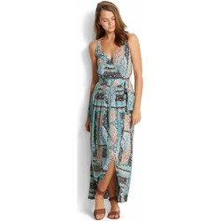 Vêtements Femme Robes longues Seafolly Robe de plage  Moroccan Moon Wrap Dress Turquoise TURQUOISE