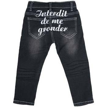 Vêtements Enfant Jeans droit Interdit De Me Gronder Jean noir RIXA Noir