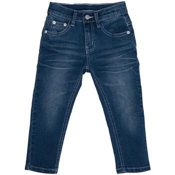 Vêtements Enfant Jeans droit Interdit De Me Gronder Jean avec logo à l'arrière SKYMA Bleu marine