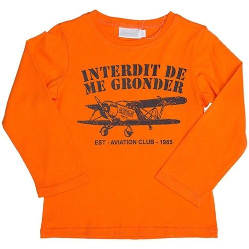 Vêtements Enfant Sweats Interdit De Me Gronder Aviateur Orange