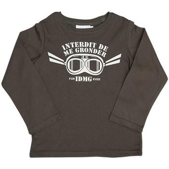Vêtements Enfant Sweats Interdit De Me Gronder Pilote Marron foncé