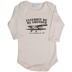 Vêtements Enfant Pyjamas / Chemises de nuit Interdit De Me Gronder Body beige manches longues PETIT AVIATEUR Beige