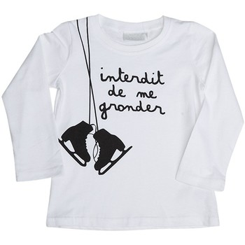 Vêtements Enfant T-shirts manches longues Interdit De Me Gronder PATINAGE Blanc