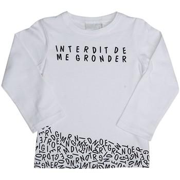 Vêtements Enfant T-shirts manches longues Interdit De Me Gronder T-shirt manches longues blanc DOMINO Blanc