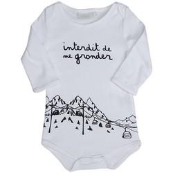 Vêtements Enfant Pyjamas / Chemises de nuit Interdit De Me Gronder Body blanc avec manches longues SNOW Blanc