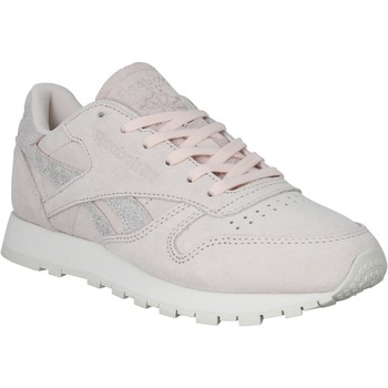 Chaussures Femme Baskets basses Reebok Sport Classic Leather Shimmer velours Femme Rose Rose